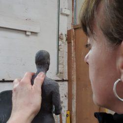 Sculptor Denise Dutton begins Work