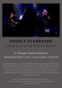 Claire Martin & Liane Carroll Benefit Concert – Tickets Now on Sale